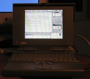 irc on a PowerBook 180c